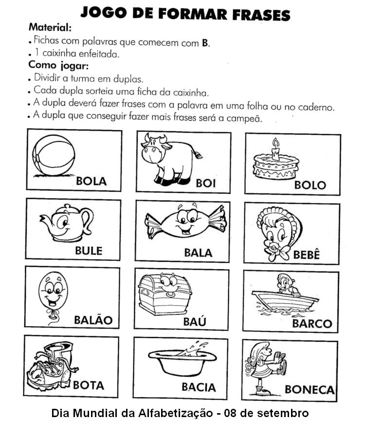 Dia Mundial Da Alfabetização 55 Atividades E Desenhos 08 De Setembro