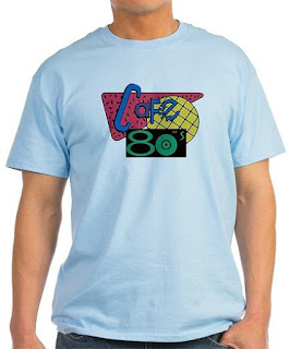 Light Blue Cafe 80's T-shirt for Men