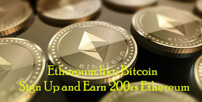 Signup get 200rs Ether (Free Ethereum offer)
