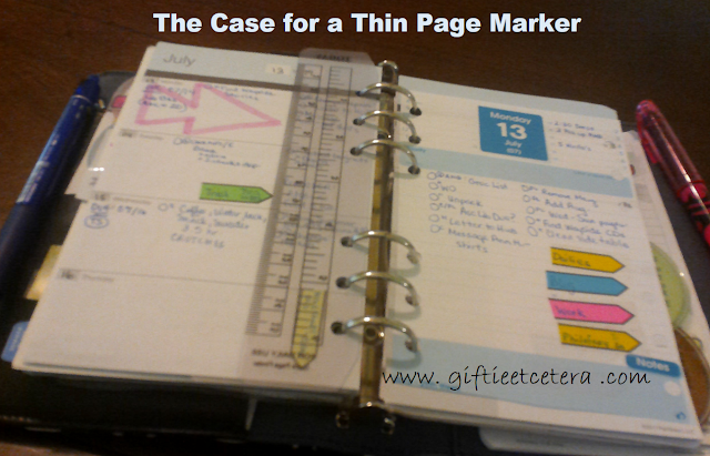 planner, accessories, page marker, today marker, bookmark