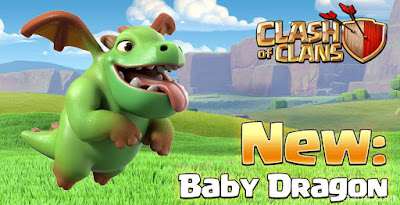 Clash of Clans New Baby Dragon