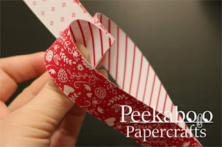 Easy Paper Heart Chain Tutorial - Adding the next heart