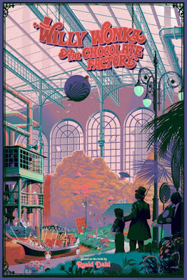 Willy Wonka & The Chocolate Factory Variant Screen Print by Laurent Durieux x Dark Hall Mansion