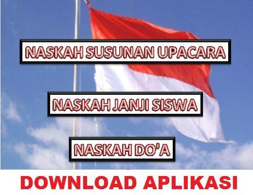 gambar Aplikasi Cetak Susunan Acara Upacara bendera, Teks Janji Siswa dan Doa Di Sekolah