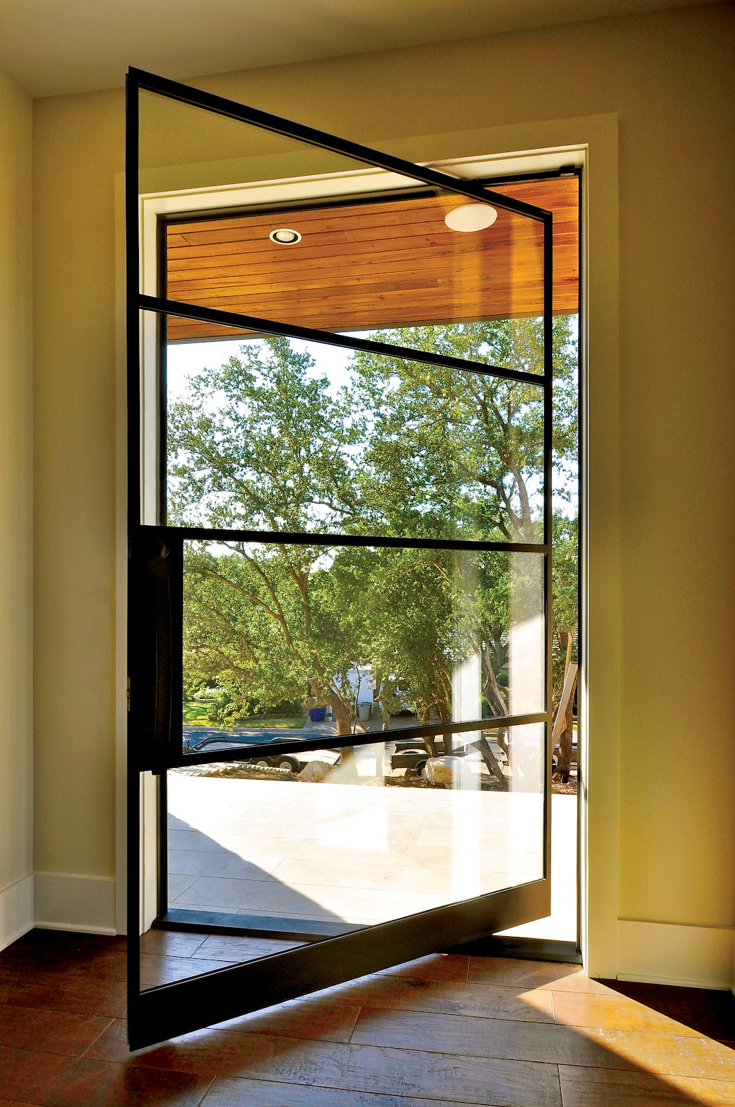 Portella custom steel doors and windows - Contemporary glass doors interior ...