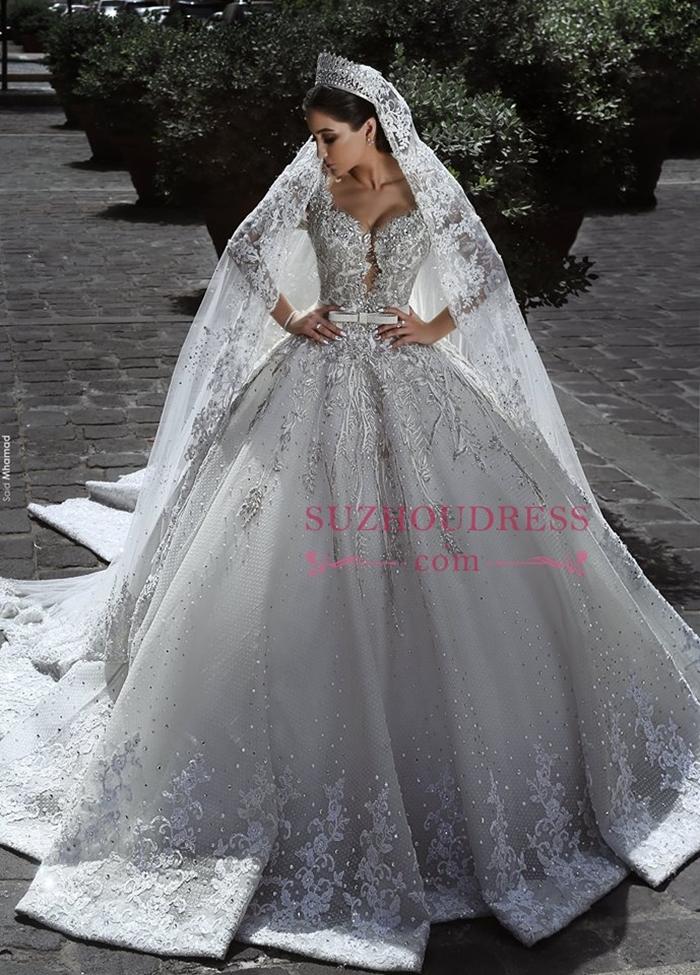 https://www.suzhoudress.com/i/elegant-long-sleves-tulle-appliques-crystal-ball-wedding-dress-22061.html