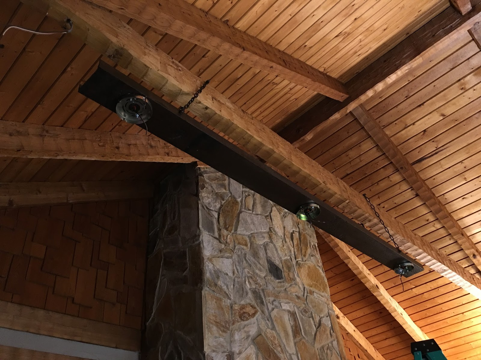Greatest Hood Creek Log Cabin: DIY Industrial Farmhouse Light Fixture QL47