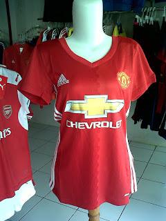Jual Jersey Ladies Manchester United Home 2016/2017 di toko jersey jogja sumacomp, murah berkualitas