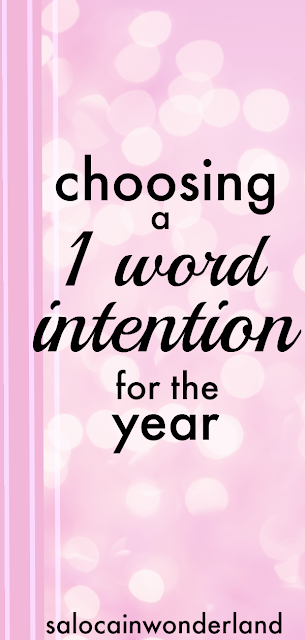 choosing one little word for the year
