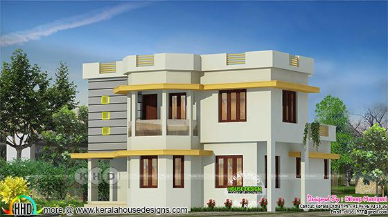 4 bedroom simple modern Kerala house