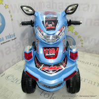 Pliko PK668 ATV Rechargeable-battery Operated Toy Motorcycle Blue