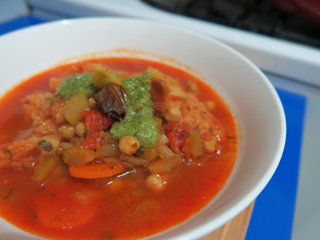 Chickpea, tomato and bread soup from Plenty by Yotam Ottolenghi. salt sugar and i food blog.