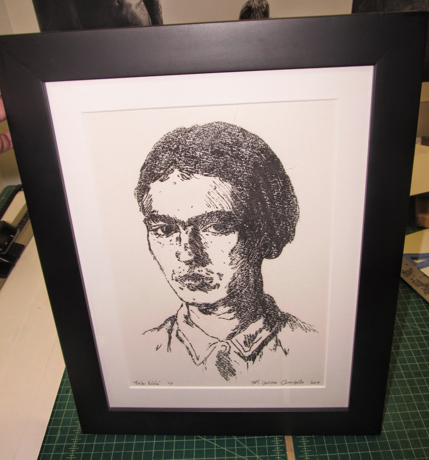 Frida Kahlo - Artist Proof - 2014 by F. Lennox Campello
