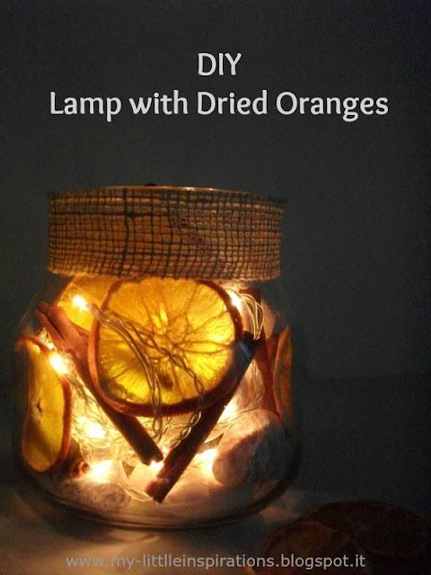 DIY Lampada con Arance essicate 1 - MLI