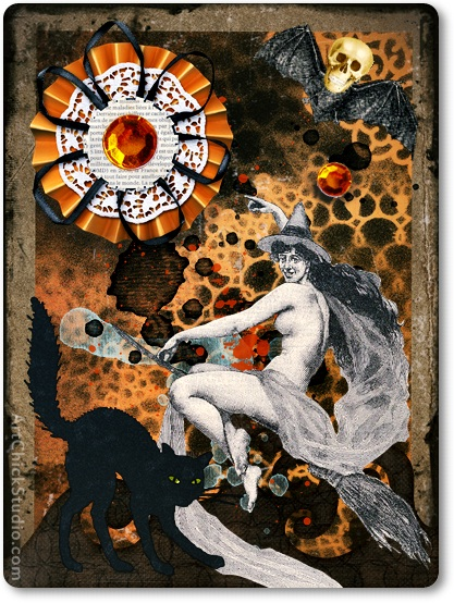 Night RIder ATC Altered Art