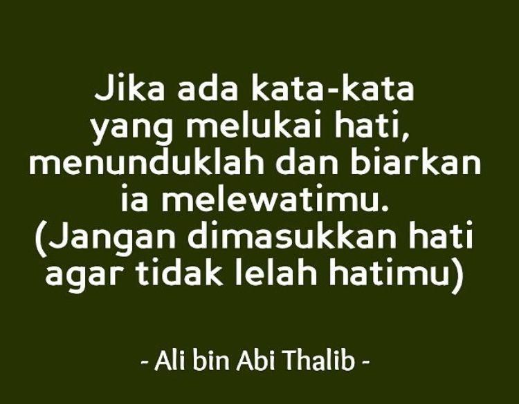 Ali Bin Abi Thalib Kata Motivasi Quotes Inspirasi Pemuda Masa Kini
