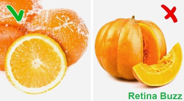 البرتقال مقابل اليقطين