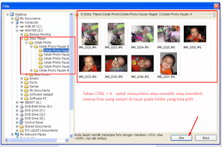 Memilih atau menyeleksi foto yang akan diprint pada Photoscape
