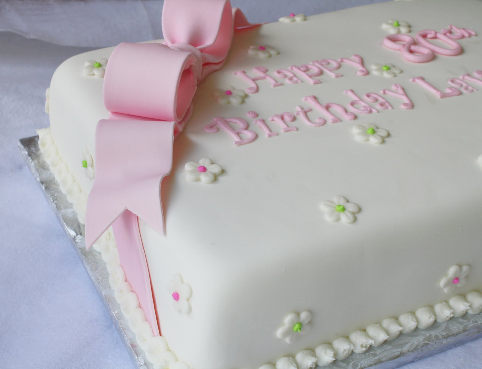 Pleasing Pink Green Sheet Cakes For 1St And 80Th Birthdays Funny Birthday Cards Online Hendilapandamsfinfo