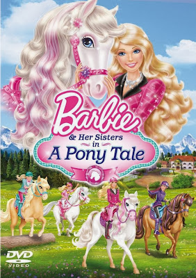 Poster Of Barbie & Her Sisters in a Pony Tale (2013) In Hindi English Dual Audio 300MB Compressed Small Size Pc Movie Free Download Only At worldfree4u.com