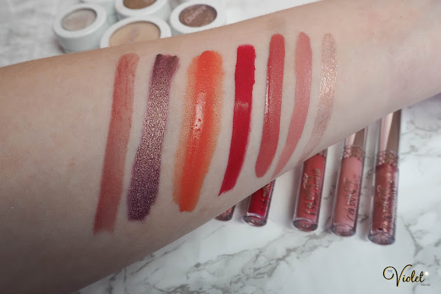 colourpop short and sweet lumiere swatches