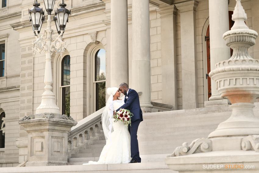Downtown Lansing Capitol Wedding Portraits - SudeepStudio.com Ann Arbor Wedding Photographer