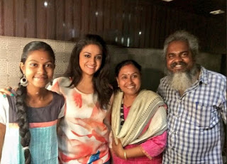 Keerthy Suresh with Fans