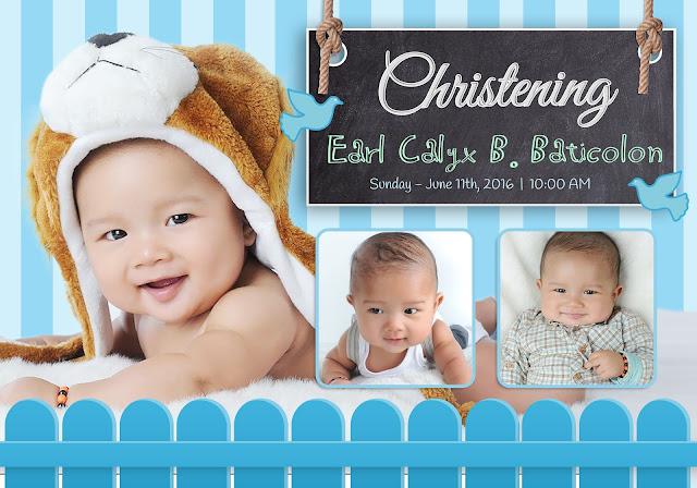 Invitation Layout Christening And Birthday