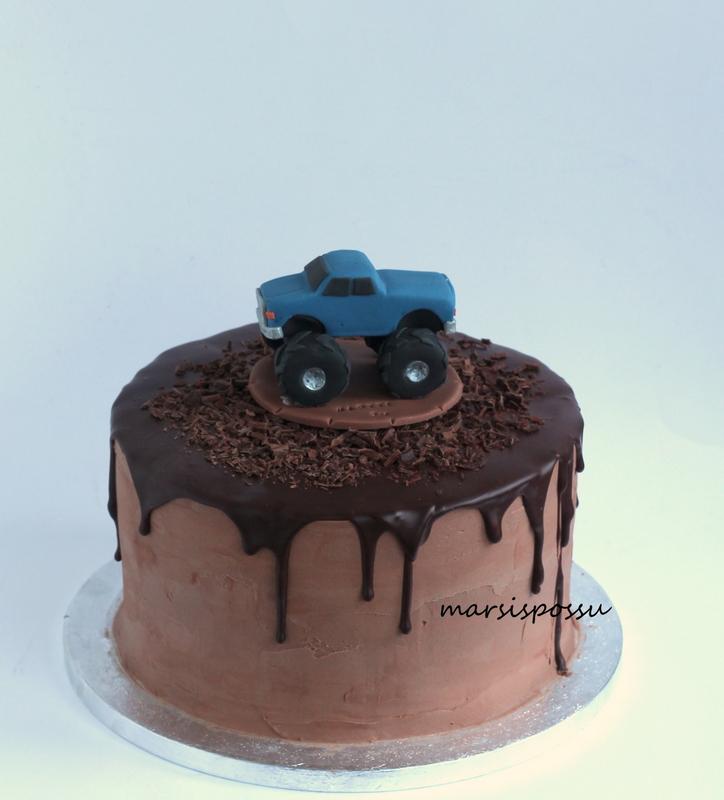 Suklaakakku 2-vuotissynttäreille