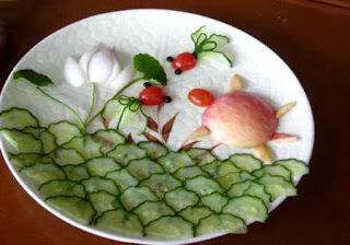 Món ăn ngon và đẹp: rùa biển từ táo