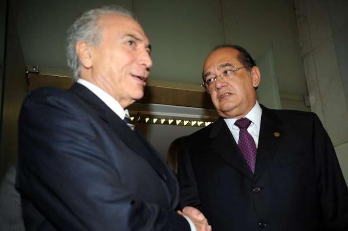PF interceptou conversas de Temer e de Gilmar Mendes, diz jornal