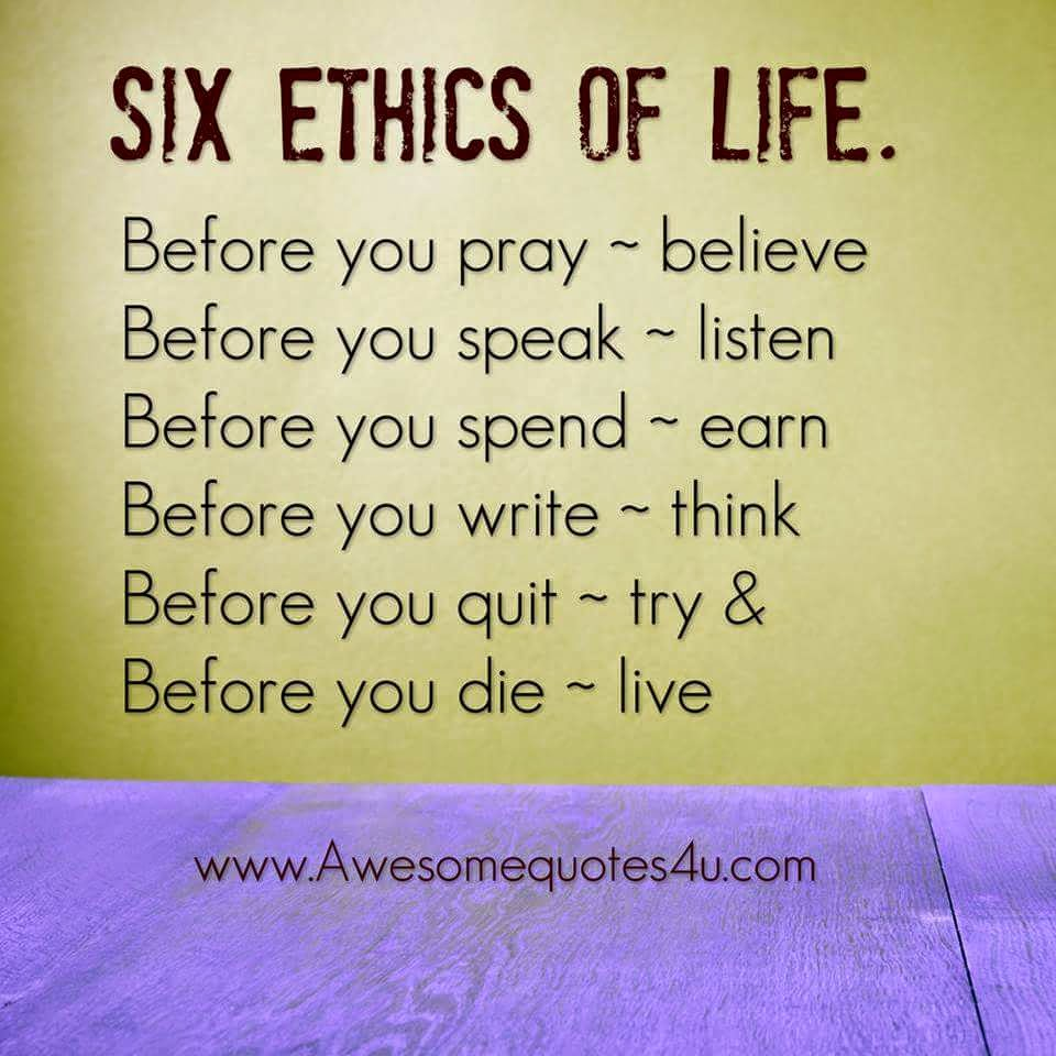 six ethics of life whatsapp videos unofficial
