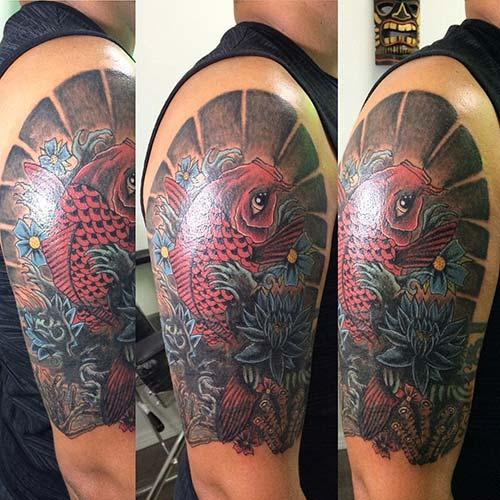 shoulder koi fish tattoos koi balığı dövmeleri omuz