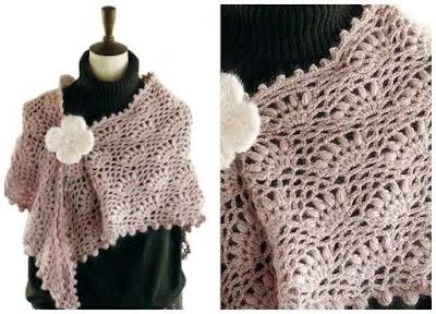 Chal con tutorial y patrón de crochet