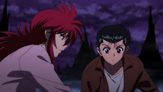 "Seis imágenes de la OVA de ""Yū Yū Hakusho"", que adaptará las historias ""Two Shots"" y ""All for Nothing""."