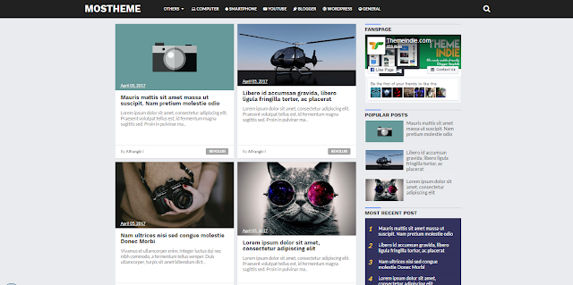 Mosthema Blogger Template Responsive