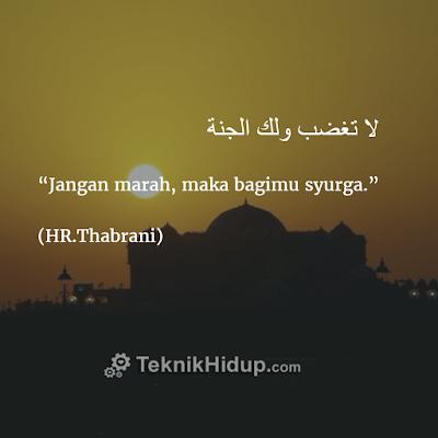 """""""Jangan marah, maka bagimu syurga"""" (HR.Thabrani)"""
