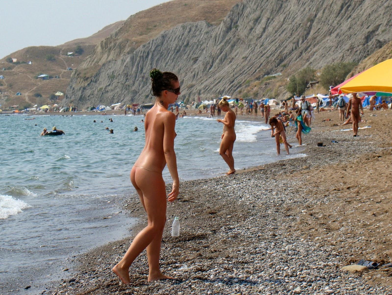 голый пляж в крыму