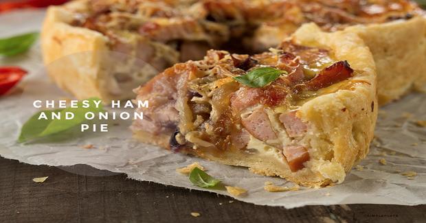 Cheesy Ham And Onion PIe Recipe
