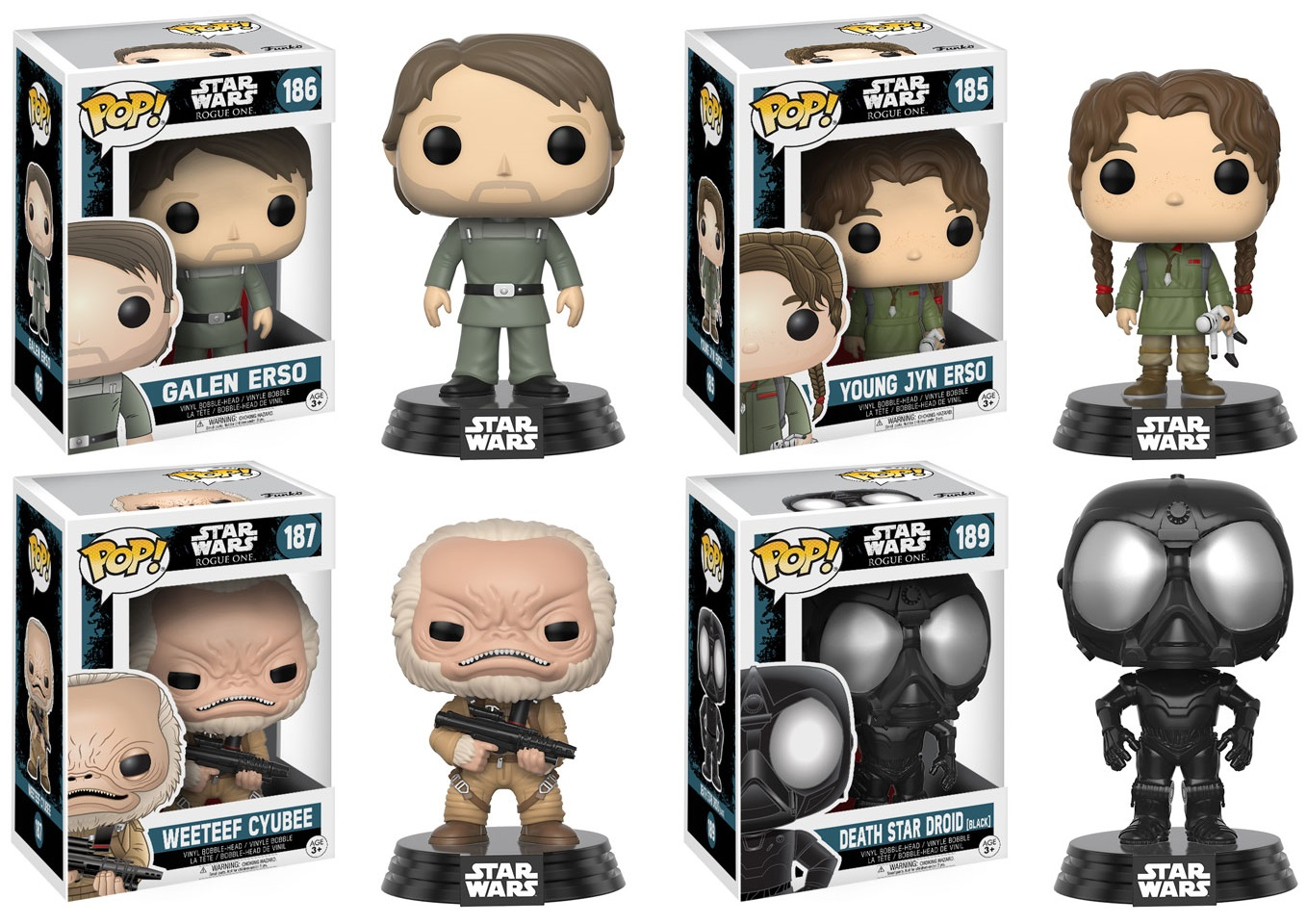 The Blot Says Star Wars Rogue One Pop Series 2 By Funko Bott Emperors Kronk Galen Erso Young Jyn