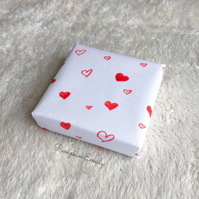 DIY Heart Wrapping Paper