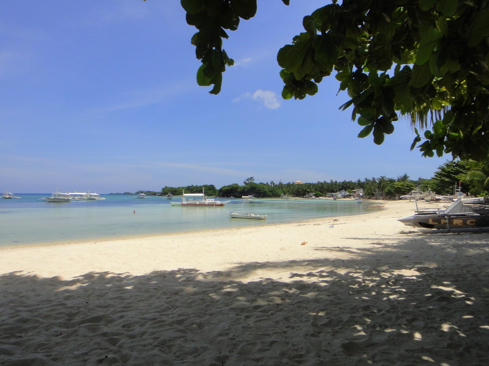 マラパスクア島の日陰の浜辺