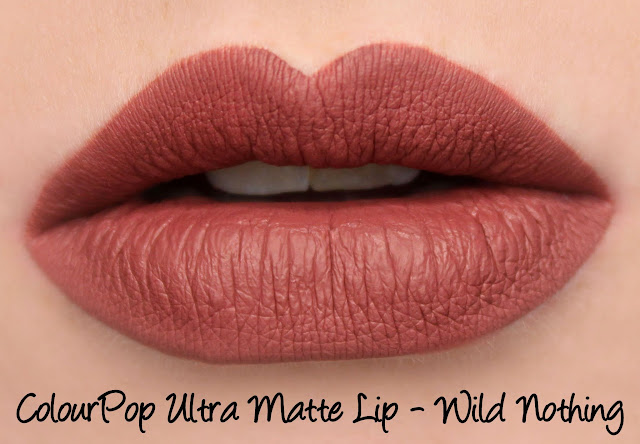 ColourPop Ultra Matte Lip - Wild Nothing Swatches & Review