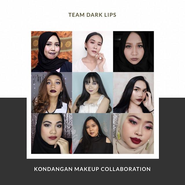 kondangan makeup, inspirasi makeup kondangan, dark lips