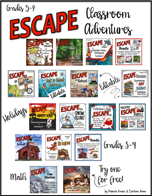 Escape Adventures for classroom, homeschool groups, or organizations
