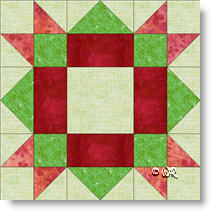 Springtime quilt block image © W. Russell, patchworksquare.com