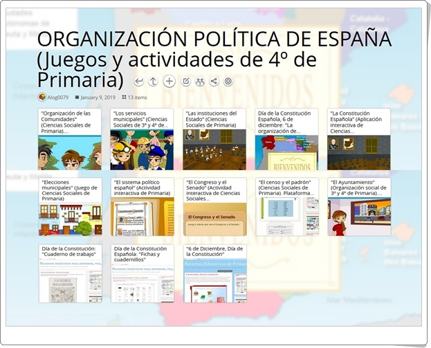 """""""13 juegos y actividades para el aprendizaje de la ORGANIZACIÓN POLÍTICA DE ESPAÑA en 4º de Primaria"""""""