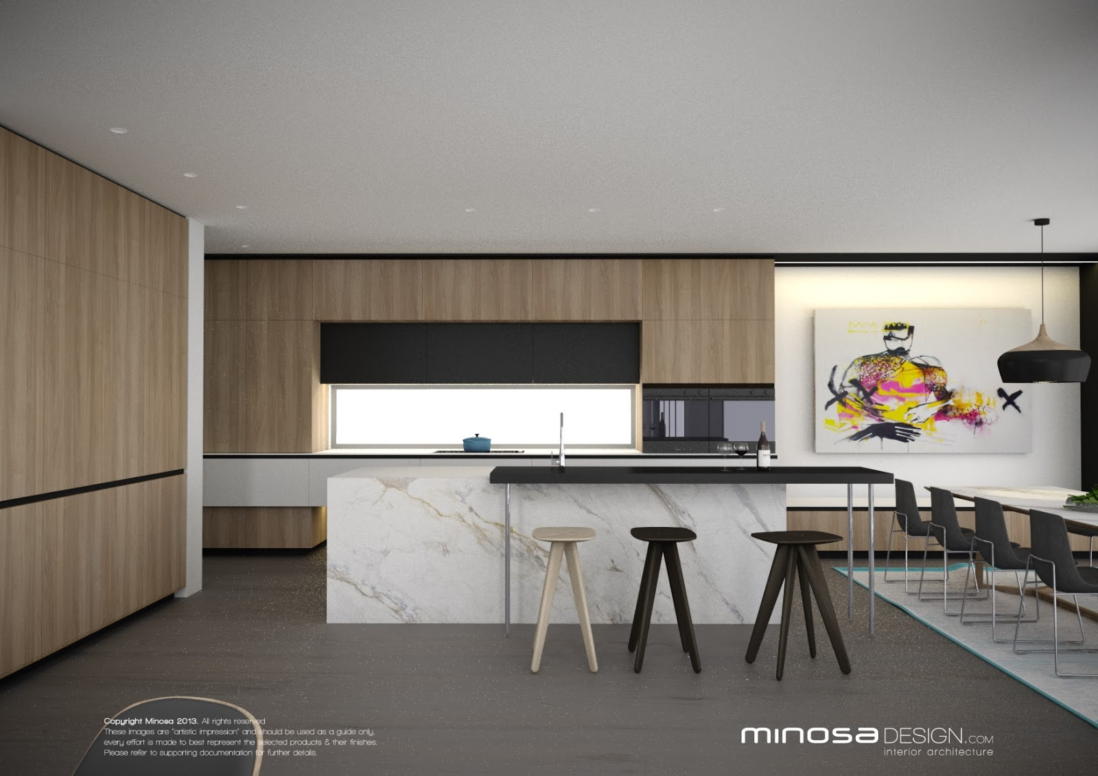 Modern Living Room With Kitchen Interior Design Minosa The Modern Living Room Kitchen Lounge Dine