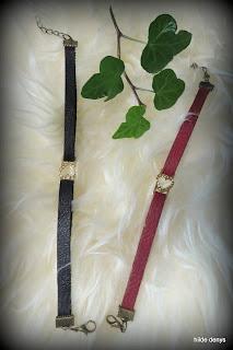 Lovelea's black or red bracelets with intermediate heart