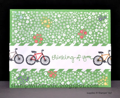 Sheltering Tree, Thinking of You, Tuesday Tutorial, Trude Thoman, Stampin' Up!, bicycle